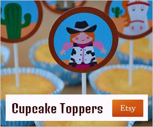 advertentie cupcake-topper